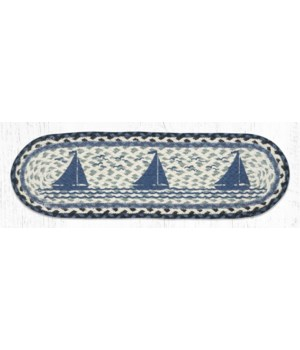 """ST-OP-443 Sailboat Oval Stair Tread 27""""x8.25"""""""