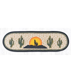 """ST-OP-469 Coyote Silhouette Oval Stair Tread 27""""x8.25"""""""