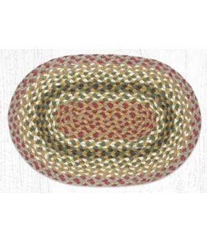 """C-24 Olive/Burgundy/Gray Jute Placemat 13""""x19"""""""