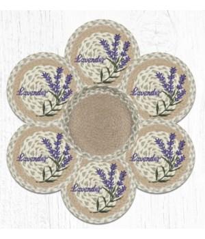 TNB-611 Lavender Trivets in a Basket 10 in.x10 in.