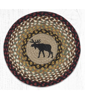 PM-RP-19 Black Moose Printed Round Placemat 15 in.x15 in.