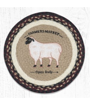PM-RP-344 Farmhouse Sheep Printed Round Placemat 15 in.x15 in.