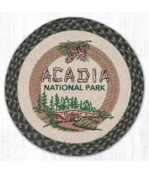 """PM-RP-377 Acadia Bridge Printed Round Placemat 15""""x15"""""""