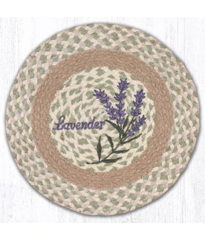 """PM-RP-611 Lavender Printed Round Placemat 15""""x15"""""""