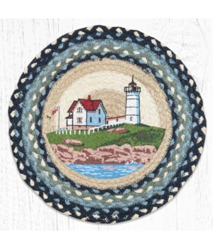 PM-RP-619 Nubble Lighthouse Printed Round Placemat 15 in.x15 in.