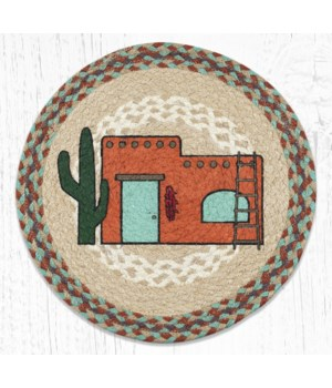PM-RP-782 Adobe Home Printed Round Placemat 15 in.x15 in.