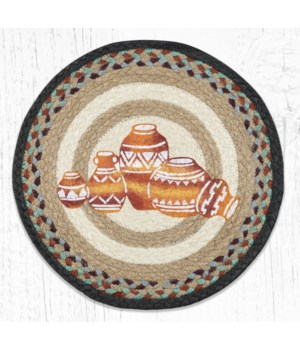 PM-RP-782 Pottery Printed Round Placemat 15 in.x15 in.
