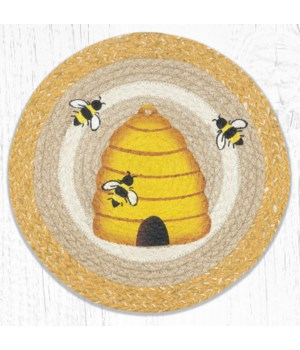 PM-RP-9-101 Beehive Printed Round Placemat 15 in.x15 in.
