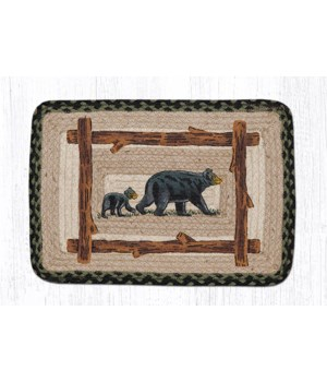 """PP-116 Mama & Baby Bear Oblong Printed Placemat 13""""x19"""""""