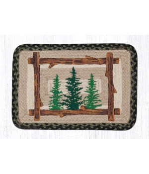 """PP-116 Tall Timbers Oblong Printed Placemat 13""""x19"""""""