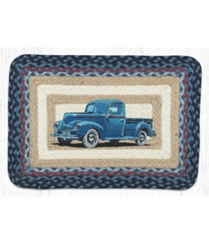 PP-362 Blue Truck Oblong Printed Placemat 13 in.x19 in.