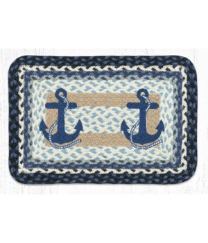 PP-443 Navy Anchor Oblong Printed Placemat 13 in.x19 in.