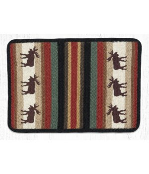 V-19 Moose Oblong Printed Placemat 13 in.x19 in.