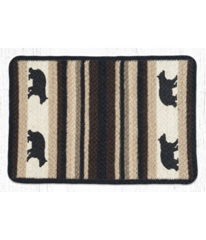 V-313 Cabin Bear Oblong Printed Placemat 13 in.x19 in.