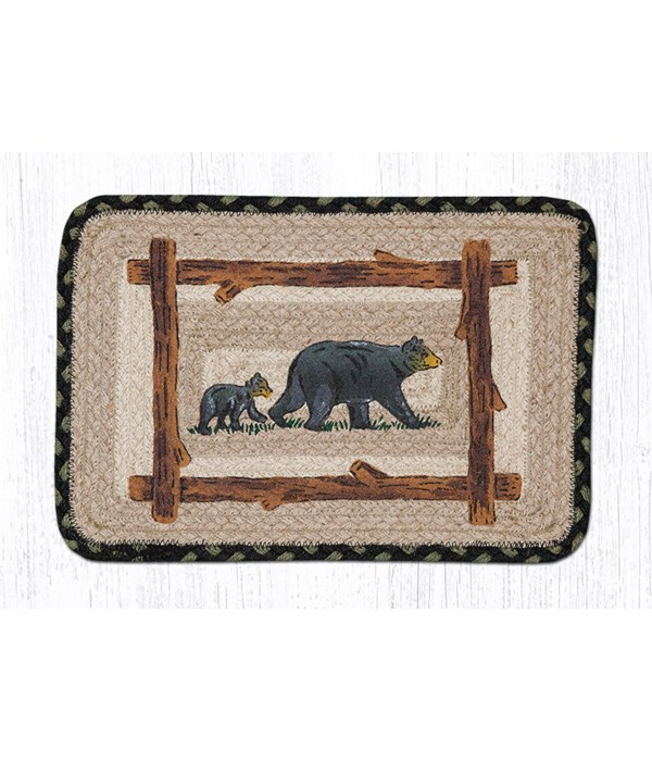 """PP-116 Mama & Baby Bear Oblong Printed Swatch 10""""x15"""""""