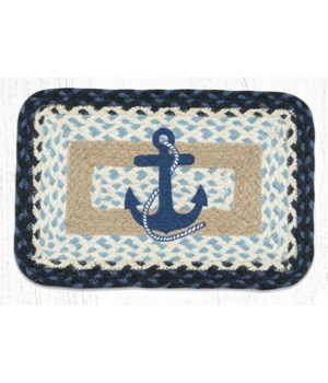 PP-443 Navy Anchor Oblong Printed Swatch 10 x 15 in.