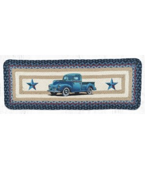 PP-362 Blue Truck Oblong Printed Table Runner 13 in.x36 in.