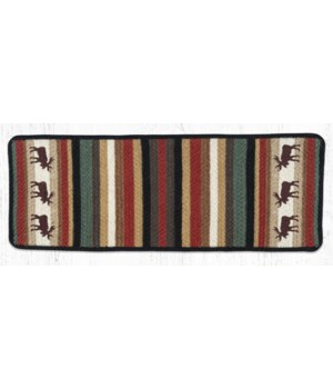 "V-19 Moose Oblong Printed Table Runner 13""x36"""