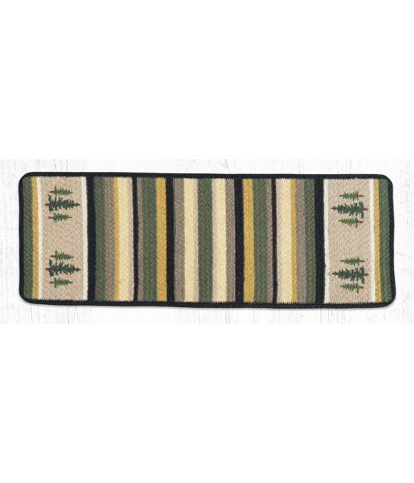 """V-116 Tall Timbers Oblong Printed Table Runner 13""""x36"""""""