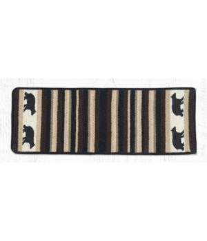 "V-313 Cabin Bear Oblong Printed Table Runner 13""x36"""