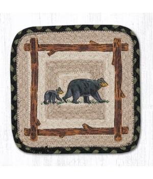 "PP-116 Mama & Baby Bear Square Printed Trivet 10""x10"""