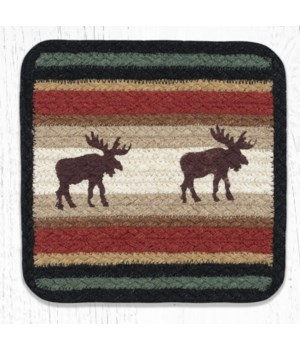 V-19 Moose Square Printed Trivet 10 in.x10 in.