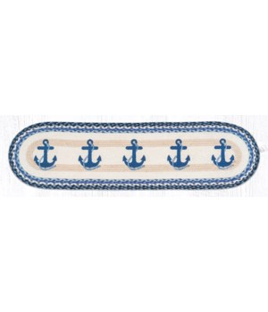 OP-443 Navy Anchor Oval Patch Runner 13 in.x48 in.x0.17 in.
