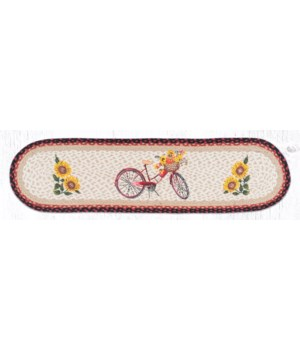 OP-602 Red Bicycle Oval Patch Runner 13 in.x48 in.x0.17 in.