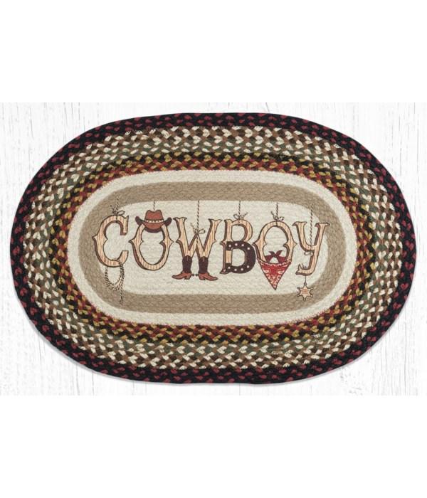 OP-19 Cowboy Oval Patch 20 in.x30 in.