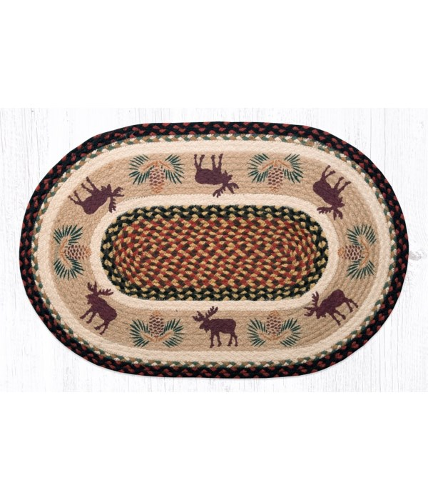 OP-19 Moose/Pinecone 2 Oval Patch 20 x 30 x 0.17 in.