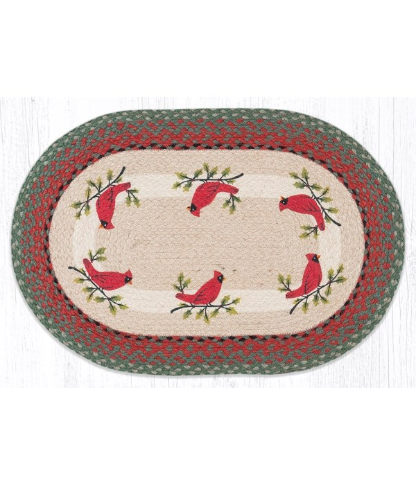 OP-25 Holly Cardinal Oval Patch 20 x 30 x 0.17 in.