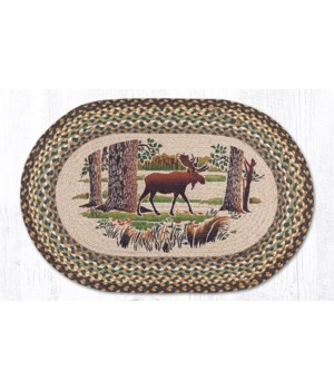 """OP-51 Moose Forest Oval Patch 20""""x30"""""""