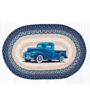 """OP-362 Blue Truck Oval Patch 20""""x30"""""""