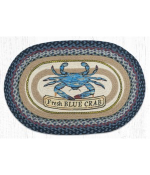 """OP-362 Fresh Blue Crab Oval Patch 20""""x30"""""""