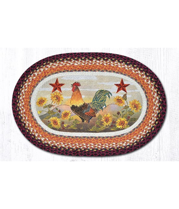 """OP-391 Morning Rooster Oval Patch 20""""x30"""""""