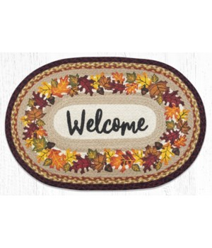 """OP-395 Autumn Welcome Oval Patch 20""""x30"""""""