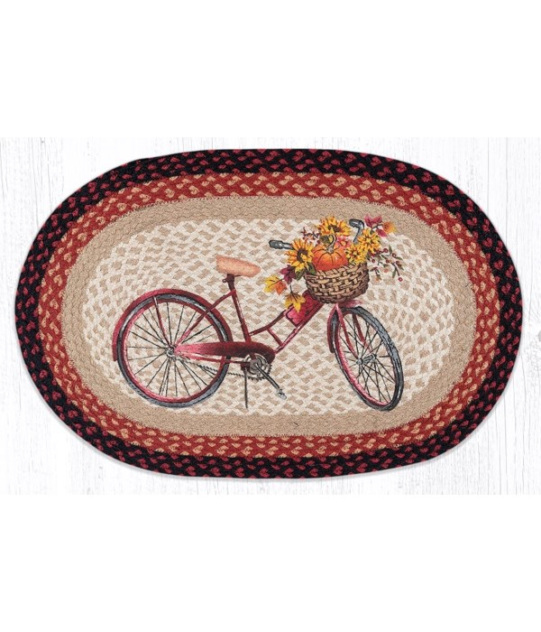 """OP-603 Red Bicycle Oval Patch 20""""x30"""""""