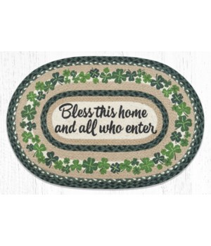 """OP-605 Bless This Home Oval Patch 20""""x30"""""""