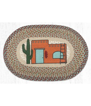 """OP-782 Adobe Home Oval Patch 20""""x30"""""""