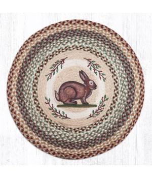 "RP-413 Vintage Rabbit Round Patch 27""x27"""