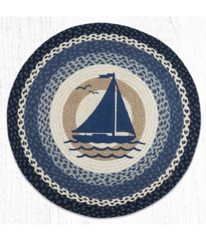 RP-443 Sailboat Round Patch 27 in.x27 in.