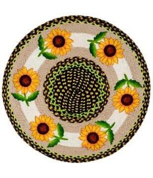 "RP-593 Good Sunflower Round Patch 27""x27"""