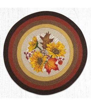 "RP-606 Autumn Sunflowers Round Patch 27""x27"""
