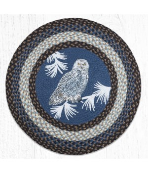 RP-743 Snowy Owl Round Patch 27 in.x27 in.