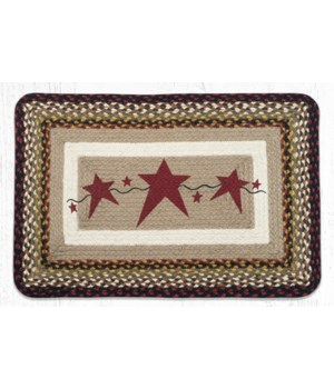PP-19 Primitive Stars Burgundy Oblong Patch 20 in.x30 in.