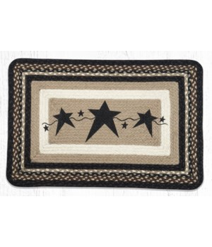 PP-313 Primitive Stars Black Oblong Patch 20 in.x30 in.