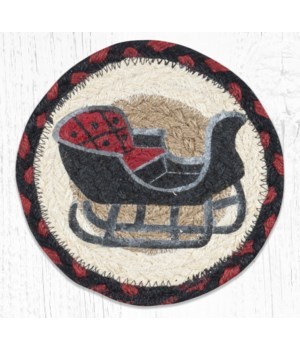 LC-19 Sleigh Rides Round Large Coaster 7 in.x7 in.