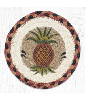 LC-375 Pineapple Round Large Coaster 7 in.x7 in.
