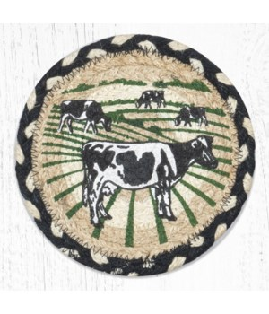 LC-430 Cows Round Large Coaster 7 in.x7 in.