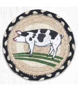 LC-430 Pig Round Large Coaster 7 in.x7 in.